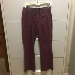 Purple boot cut jeans